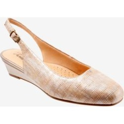 Extra Wide Width Women's Lenore Slings by Trotters in Sand Beige (Size 11 WW) found on Bargain Bro India from Woman Within for $104.99