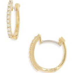 Diamond Hoop Earrings - Metallic - Roberto Coin Earrings found on Bargain Bro from lyst.com for USD $722.00