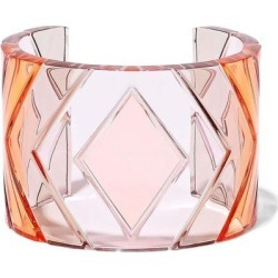 Acrylic Cuff Baby Pink - Pink - Valentino Garavani Bracelets found on Bargain Bro from lyst.com for USD $384.56