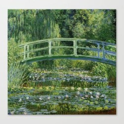 Canvas Print | Water Lilies And Japanese Footbridge, Claude Monet by Historia Fine Art Gallery - LARGE - Society6 found on Bargain Bro from Society6 for USD $105.18