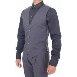 Dolce & Gabbana Gray Cotton Blend Formal Dress Vest Men's Gilet - it44-xs (Grey - it44-xs) found on Bargain Bro India from Overstock for $141.55