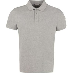 Cotton-piqué Polo Shirt - Gray - Moncler T-Shirts found on Bargain Bro from lyst.com for USD $269.80