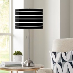 Giclee Bold Black Stripe Table Lamp found on Bargain Bro from LAMPS PLUS for USD $75.99