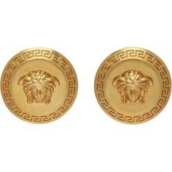 Gold Tribute Medusa Earrings - Metallic - Versace Earrings found on Bargain Bro from lyst.com for USD $266.00