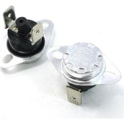 2Pcs 145C Celsius NC. 2 Pin Bent Foot Design Manual Reset Thermostat 10A AC250V - Black,Silver Tone (Black,Silver Tone), Silver/Silver Tone, Unique found on Bargain Bro Philippines from Overstock for $7.65