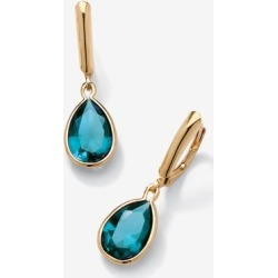 Women's Gold over Sterling Silver Drop EarringsPear Cut Simulated Birthstones by PalmBeach Jewelry in December found on Bargain Bro Philippines from Ellos for $37.99