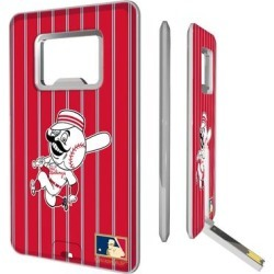 Cincinnati Reds 1953-1967 Cooperstown Pinstripe Credit Card USB Drive & Bottle Opener found on Bargain Bro from Fanatics for USD $18.99