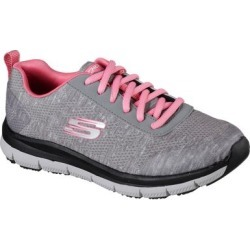 Skechers Work Relaxed Fit: Comfort Flex SR - HC Pro SR Sneakers, Gray / Pink, 7.0 found on Bargain Bro Philippines from SKECHERS.com for $41.99