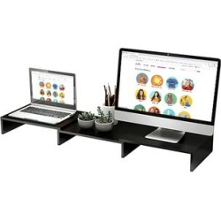 eDooFun Desk Organizers Black - Black Retractable Monitor Stand found on Bargain Bro India from zulily.com for $24.99