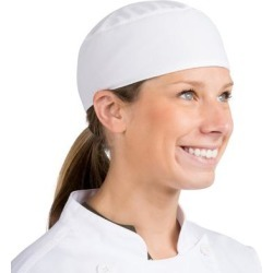 Headsweats White Customizable Chef Skull Cap found on Bargain Bro India from webstaurantstore.com for $9.99