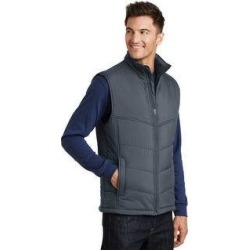 One Country United Men's Puffy Warm Vest (S - Dark Slate/Black), Dark Grey/Black(polyester) found on Bargain Bro Philippines from Overstock for $49.99