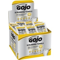 GOJO® 6380-04 Scrubbing Towels Heavy Duty Wipes 80 Count Display Carton - 4/Case found on Bargain Bro India from webstaurantstore.com for $113.10