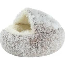 Royal Wise Dark - Dark Coffee Fuzzy Round Pocket Nest Pet Bed found on Bargain Bro from zulily.com for USD $18.99