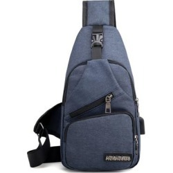 3P Experts Dark - Dark Blue USB Sling Shoulder Backpack & Chest Bag found on Bargain Bro India from zulily.com for $13.49