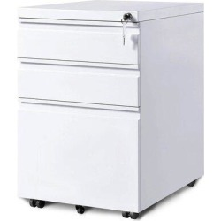 Inbox Zero 3 DRAWERS MOBILE CABINET in White, Size 24.5 H x 15.5 W x 20.5 D in | Wayfair 4C425C6189E34DB584992F2B2CA893AD found on Bargain Bro Philippines from Wayfair for $289.99