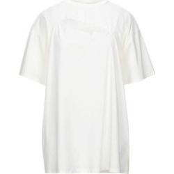 T-shirt - White - MM6 by Maison Martin Margiela Tops found on Bargain Bro from lyst.com for USD $88.92