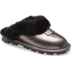 UGG Genuine Shearling Slipper - Black - Ugg Flats found on Bargain Bro from lyst.com for USD $91.20