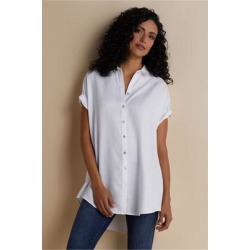 Women Je Veux Shirt by Soft Surroundings, in White size 1X (18-20)