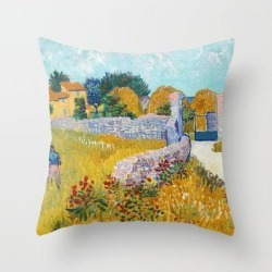 Throw Pillow   Vincent Van Gogh - Farmhouse In Provence by Old Masters - Cover (16