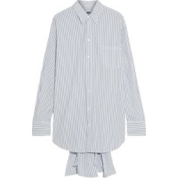 Lace-up Striped Cotton-poplin Shirt White - White - MM6 by Maison Martin Margiela Tops found on Bargain Bro from lyst.com for USD $216.60