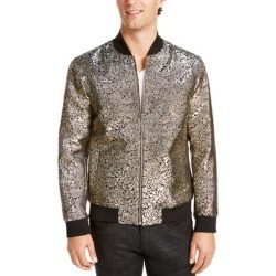 INC Mens Jackets Gold Black Size 2XL Metallic Floral Print Bomber (2XL), Men's(cotton) found on MODAPINS from Overstock for USD $22.97
