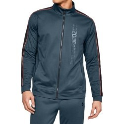 Under Armour Mens Unstoppable Track Jacket Slate Blue Small S Full Zip (S), Men's(polyester) found on Bargain Bro Philippines from Overstock for $37.98