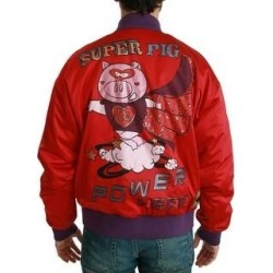 Dolce & Gabbana Red YEAR OF THE PIG Bomber Men's Jacket (it50-l)(polyester) found on Bargain Bro India from Overstock for $562.00