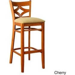 Diamond Bar Stool (Cherry), Red found on Bargain Bro from Overstock for USD $122.73