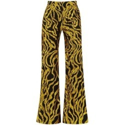 Sequinned-vine Flared Trousers - Metallic - Halpern Pants found on MODAPINS from lyst.com for USD $570.00