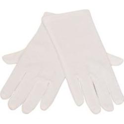 Kids Unisex White Wrist Length Cotton Gloves 8-13 - 4-7