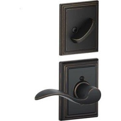 Schlage Inactive Interior Accent Lever Addison Rosette Dummy Entry Set (Exterior Portion Sold Separately) in Brown, Size 8.1 H x 4.3 W x 3.8 D in found on Bargain Bro Philippines from Wayfair for $53.44