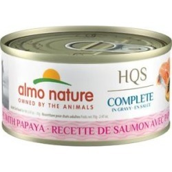 Almo Nature HQS Complete Salmon with Papaya Wet Cat Food, 2.47-oz can, case of 12 found on Bargain Bro from Chewy.com for USD $15.05