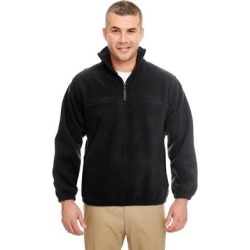 Iceberg Men's Big and Tall Black Fleece 1/4-zip Pullover Sweater found on Bargain Bro Philippines from Overstock for $28.79