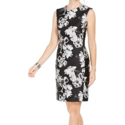 petite N Natori Womens Sheath Dress Black Size 14 Floral-Print Jacquard (14), Women's found on Bargain Bro India from Overstock for $74.98