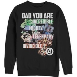 Fifth Sun Men's Sweatshirts and Hoodies BLACK - Avengers Black Heroic 'Dad' Long-Sleeve Tee - Men found on Bargain Bro from zulily.com for USD $21.27