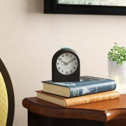 Ebern Designs AnalogAlarm Tabletop Clock in Brown, Size 3.5 H x 3.03 W x 1.73 D in   Wayfair RDBT6796 42918403 found on Bargain Bro Philippines from Wayfair for $61.99