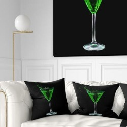 Designart 'Absinthe on Black Background' Modern Throw Pillow found on Bargain Bro from Overstock for USD $25.19