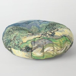 Floor Pillow   Vincent Van Gogh, Olive Trees. by Artscollection - ROUND - 30