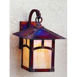 Arroyo Craftsman Evergreen 13 Inch Tall 1 Light Outdoor Wall Light - EB-9E-AM-VP found on Bargain Bro from Capitol Lighting for USD $335.92