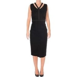 Juicy Couture Womens Knit Ponte Midi Dress w/Cut Out Front, Black, 8 (Black - 8), Women's found on MODAPINS from Overstock for USD $35.62
