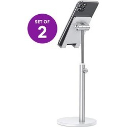 DGN Gadgets Silver - Silvertone Adjustable Phone & Tablet Stand - Set of Two found on Bargain Bro Philippines from zulily.com for $18.99