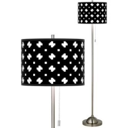 Crossroads Brushed Nickel Pull Chain Floor Lamp found on Bargain Bro from LAMPS PLUS for USD $136.79