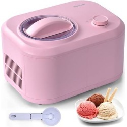 Costway Ice Cream Maker 1 1 Qt Automatic Frozen Dessert Machine W/ Spoon White\\Green\\Pink\\Silver found on Bargain Bro from Overstock for USD $134.66