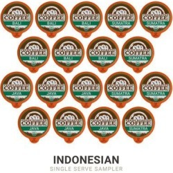 Fresh Roasted Coffee Organic Indonesian Coffee Pods in Brown, Size 8.4 H x 6.0 W x 12.6 D in | Wayfair FRC_INDO_SMPLR_ORG_72ct_PODS found on Bargain Bro Philippines from Wayfair for $32.95