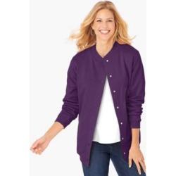 Women's Petite Fleece Jacket, Grape Royal 2XL found on Bargain Bro India from Blair.com for $25.99