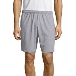 petite Hanes Men's Jersey Pocket Short (Light Steel - S), Light Silver found on Bargain Bro from Overstock for USD $13.22