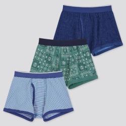 UNIQLO Boy's Boxer Briefs (Set Of 3), Blue, 11-12Y found on Bargain Bro India from Uniqlo for $9.90