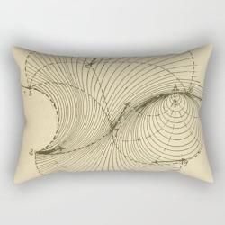 Rectangular Pillow   Fluid Dynamics by Blue Specs Studio - Small (17