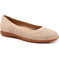 Women's Darcey Flat by Trotters in Sand Perforated (Size 7 M) found on Bargain Bro Philippines from Roamans.com for $99.99