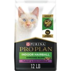 Purina Pro Plan Savor Shredded Blend Indoor Turkey & Rice Formula Dry Cat Food, 12-lb bag